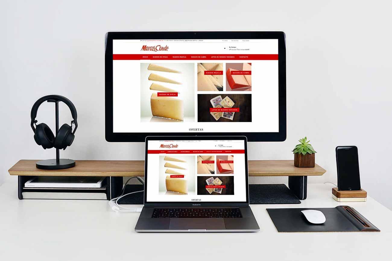 Diseño Tienda Online Marcos Conde