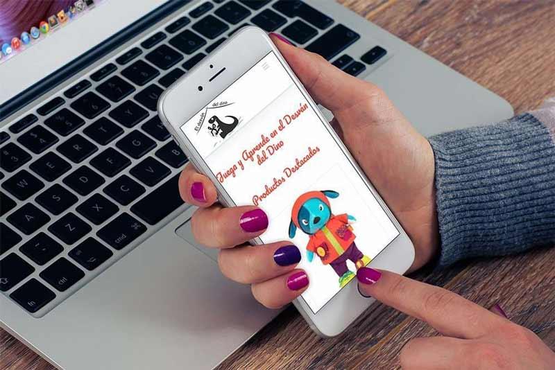 Diseño Tienda Online El Desvan del Dino iPhone