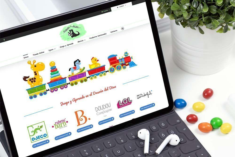 Diseño Tienda Online El Desvan del Dino iPad