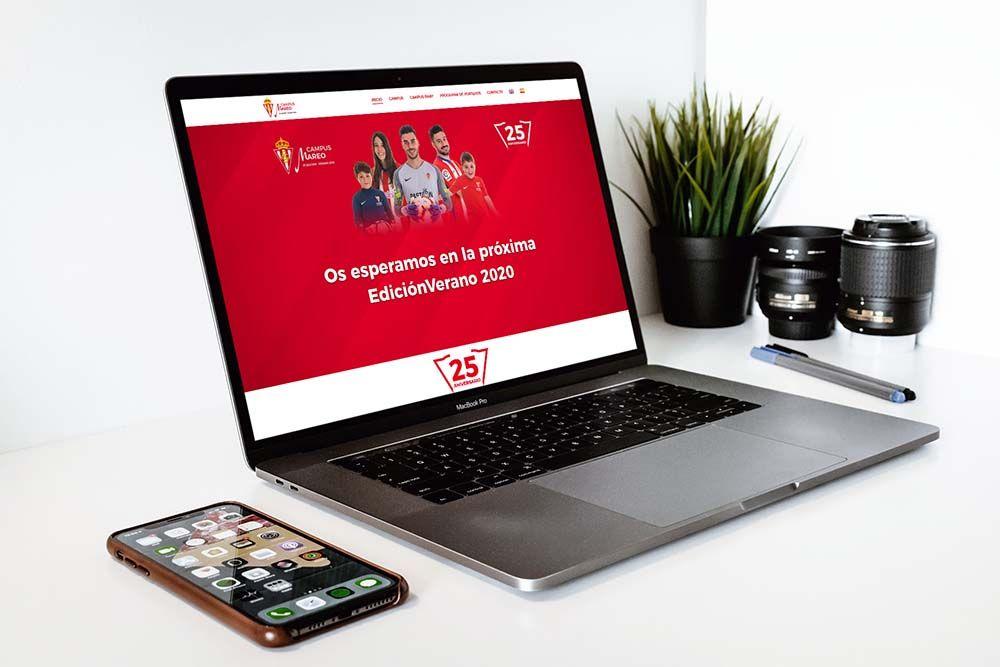 Diseño Web Campus Fútbol Mareo Macbook
