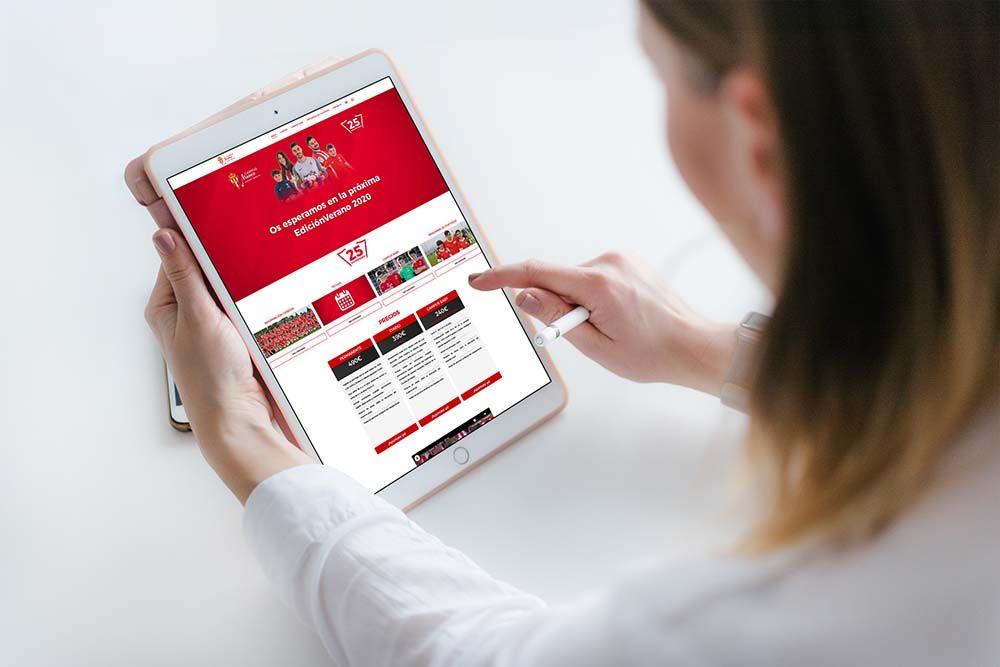 Diseño Web Campus Fútbol Mareo iPad