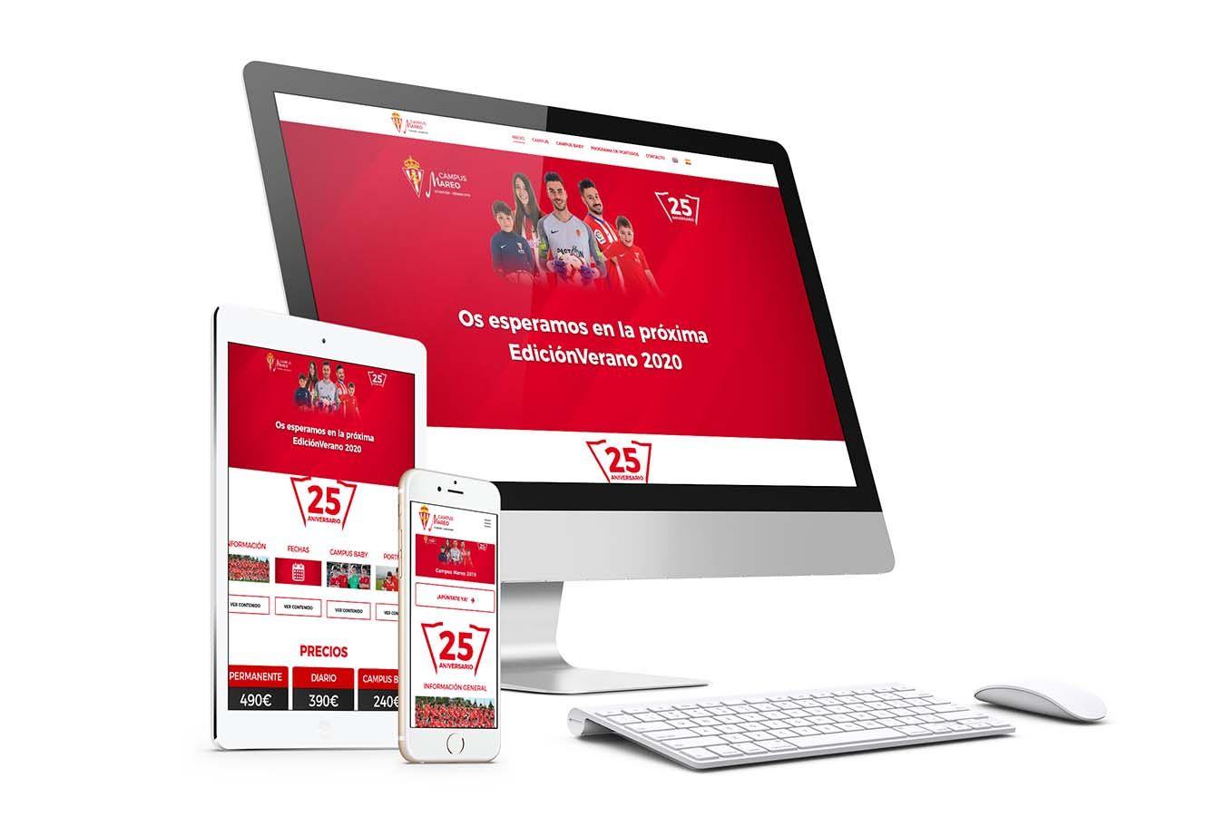 Diseño Web Campus Futbol Mareo Responsive