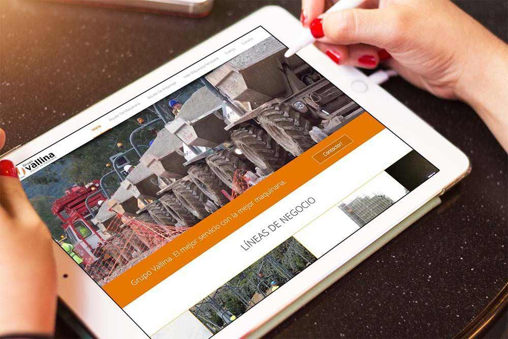 Diseño Web Grupo Vallina iPad