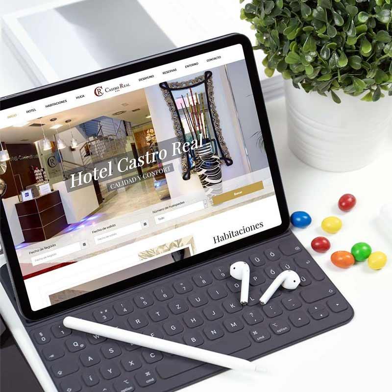 Diseño web Hotel Castro Real iPad