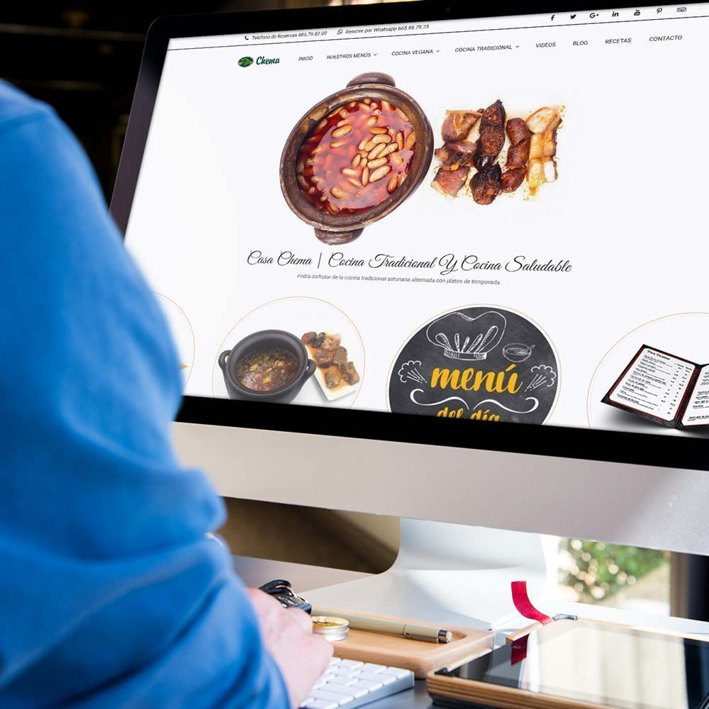 Diseño web Restaurante Casa Chema iMac