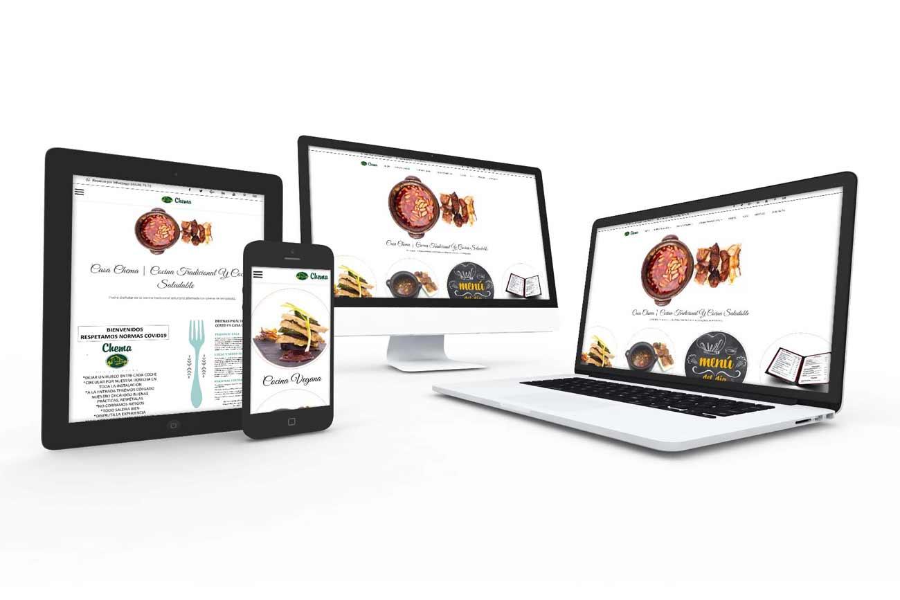 Diseño web Restaurante Casa Chema