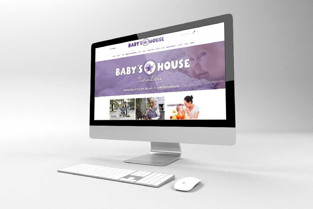 Diseño tienda online Baby's House iMac