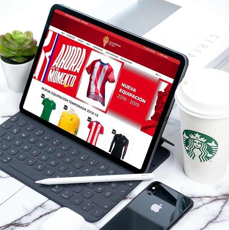 Rediseño Tienda Online Prestashop Real Sporting de Gijón