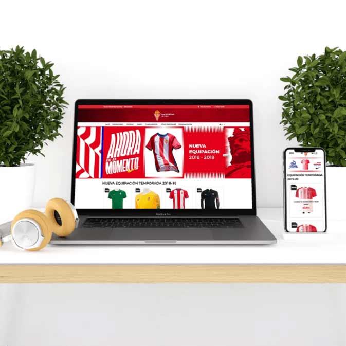 Rediseño tienda online Sporting de Gijón