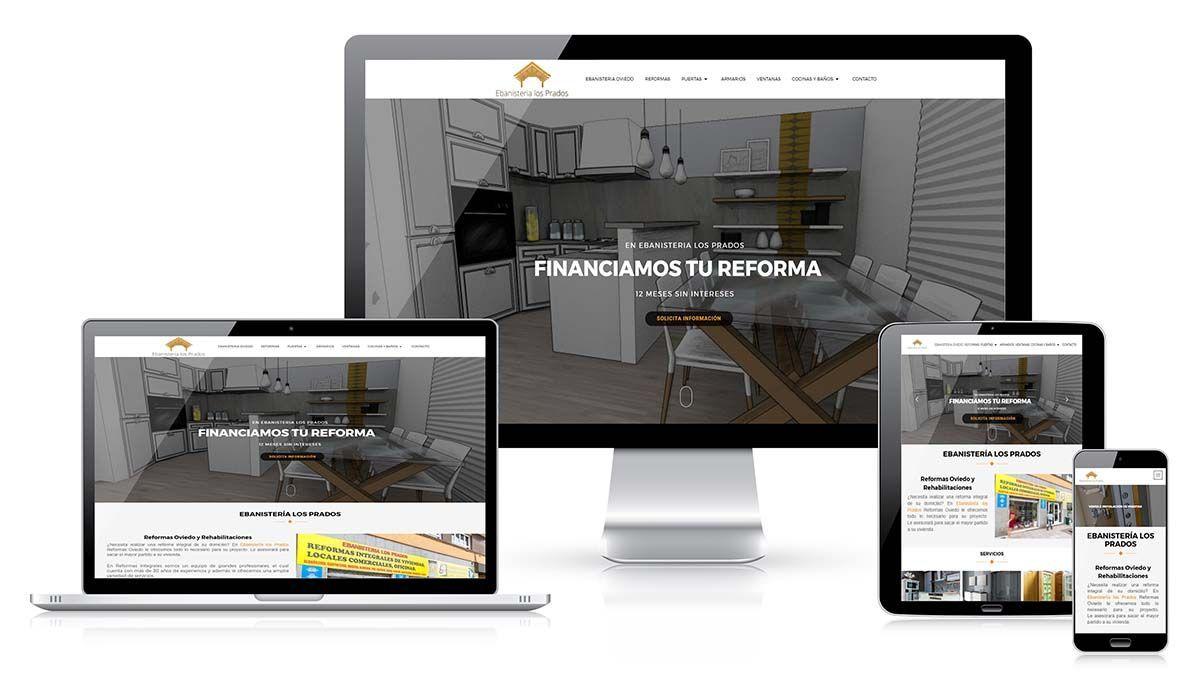 Diseño web Ebanistería los Prados
