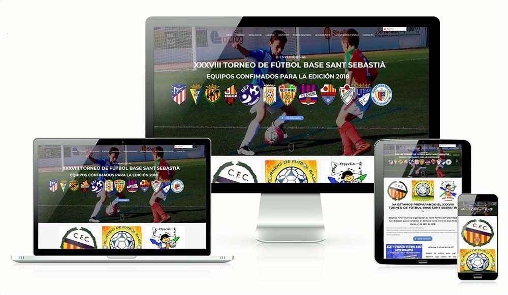 Diseño web Torneo futbol Base la Canonja Tarragona