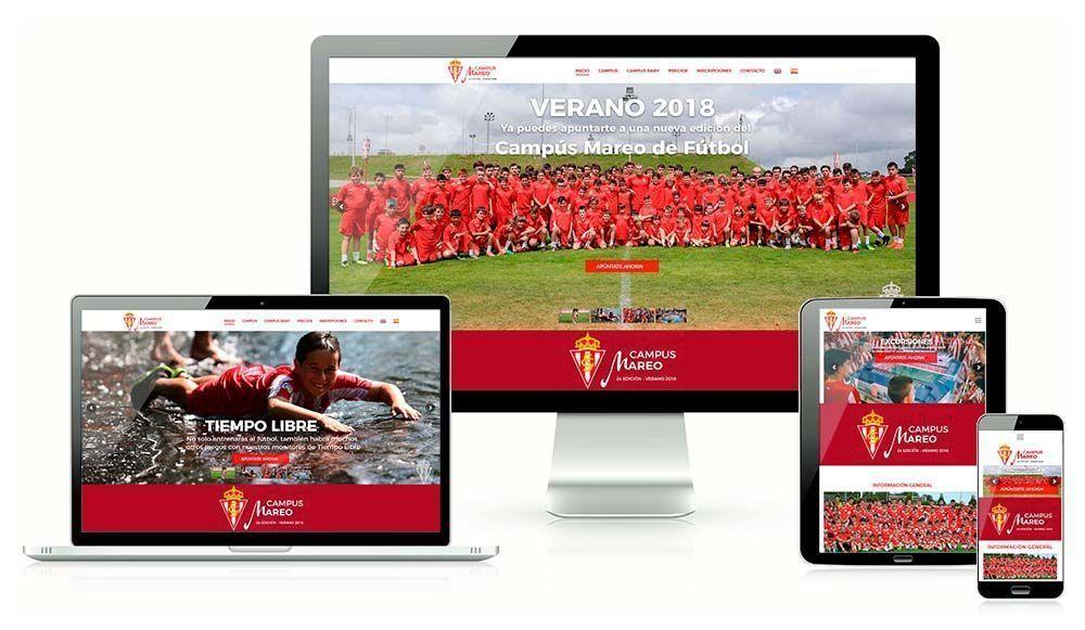 Diseño web Campus de Mareo Real Sporting de Gijón
