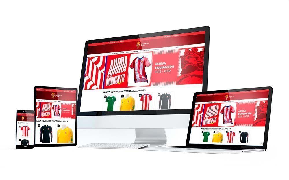 Diseño Tienda Online Sporting de Gijón Responsive