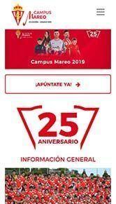 Diseño Web Campus Futbol Mareo iphone