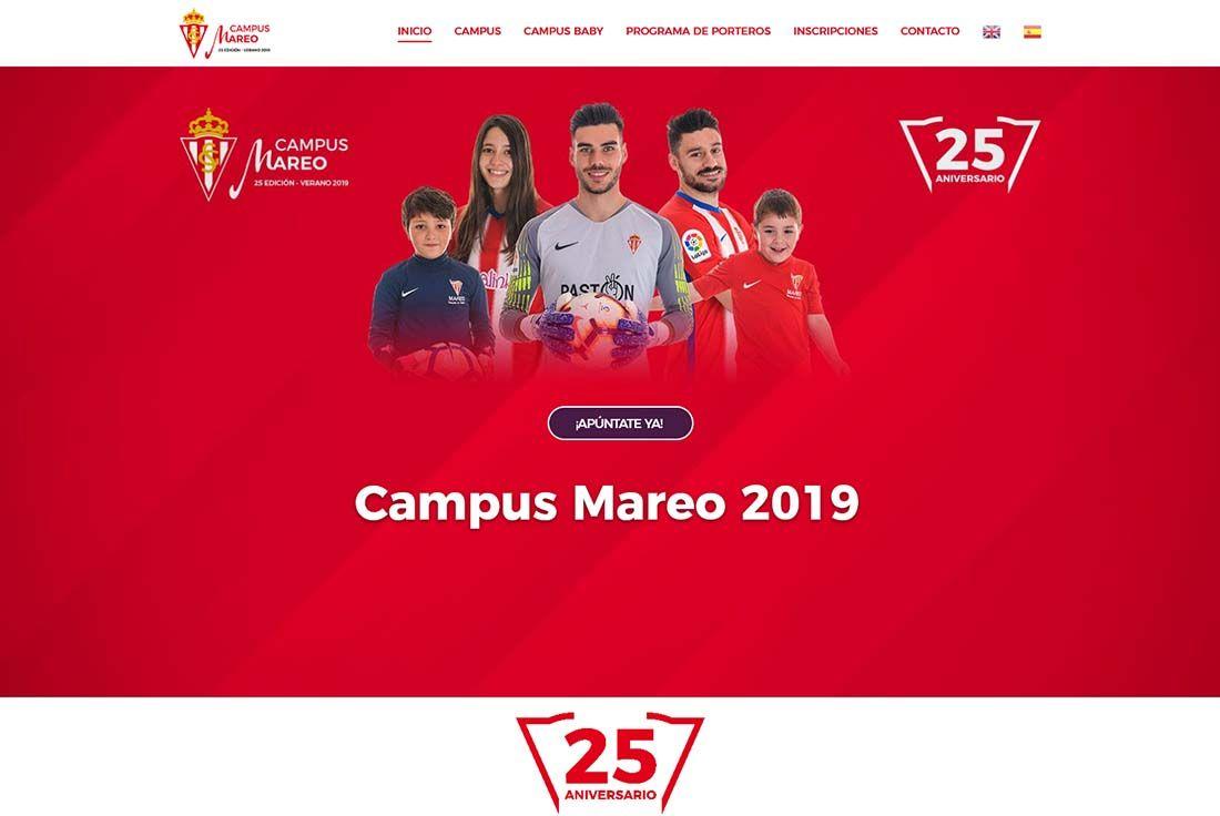 Diseño Web Campus Futbol Mareo