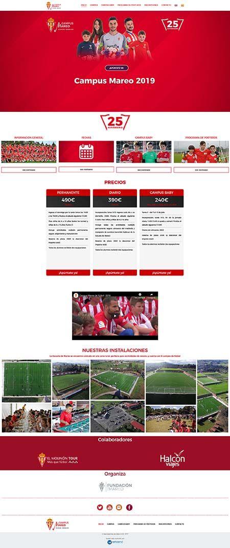 Diseño web Campus de Futbol Mareo 450>