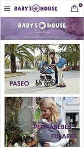 diseño tienda online babyshouse iphone