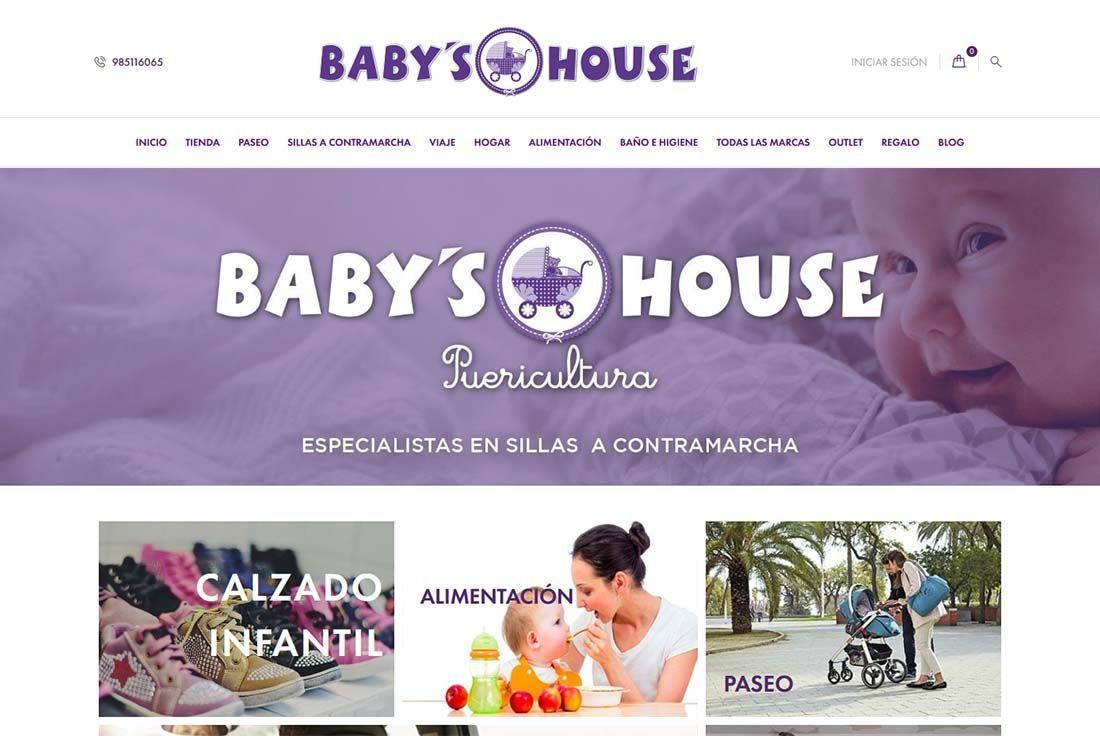 diseño tienda online babyshouse