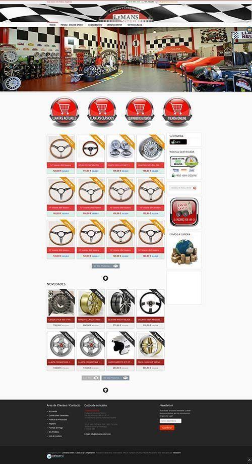 Diseño tienda Online Lemanscenter>