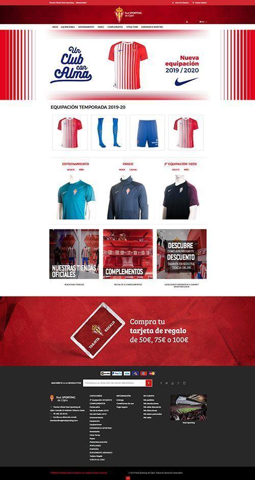 Diseño tienda Online Real Sporting de Gijon>