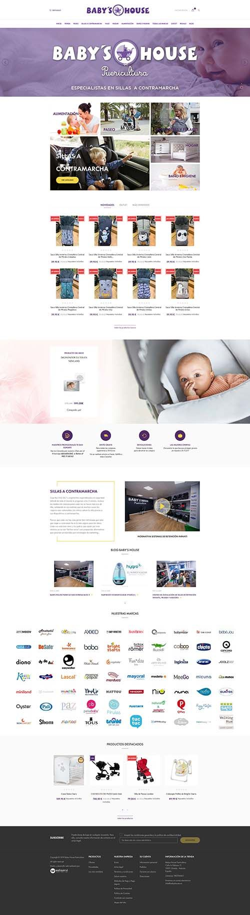 Front Diseño tienda online babys house>