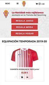 Diseño Tienda Online Sporting de Gijón