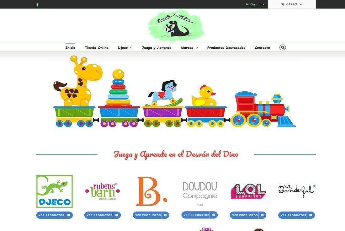 Diseño Tienda Online el desvan del Dino