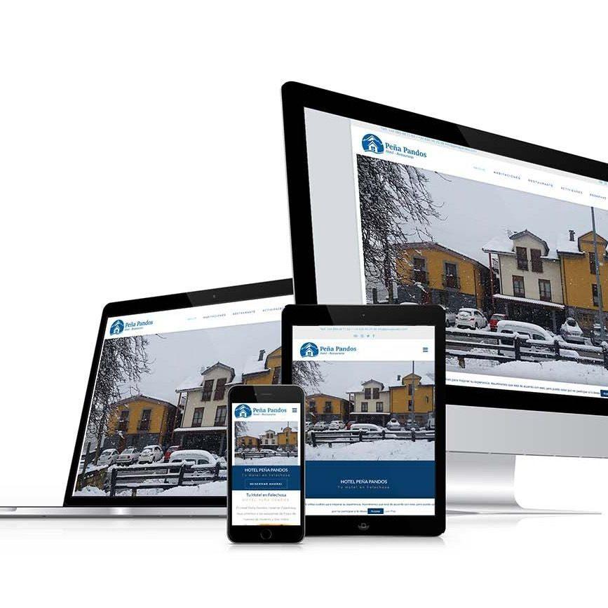 Diseño web Hotel Peña Pandos Responsive