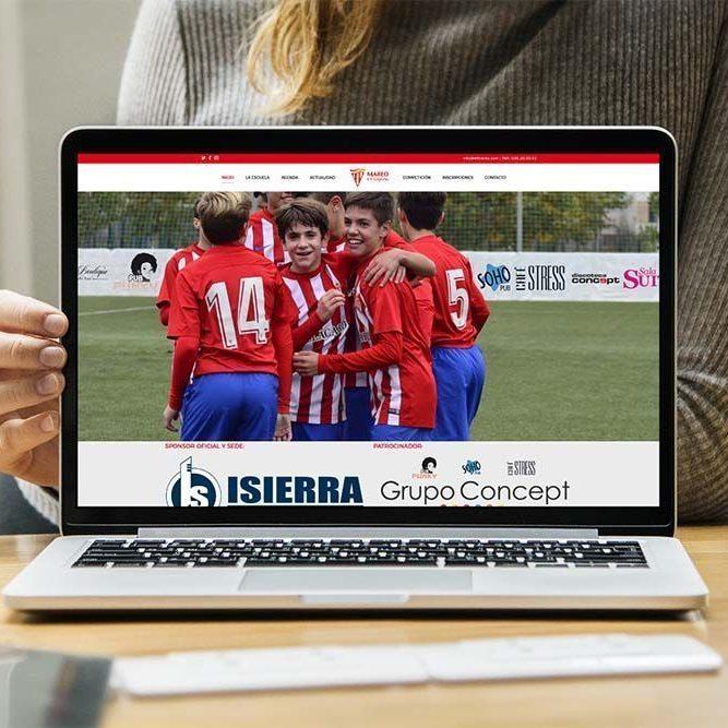 Diseño Web EF Mareo MacBook