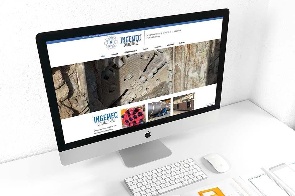 Diseño Web Ingemec Soluciones iMac