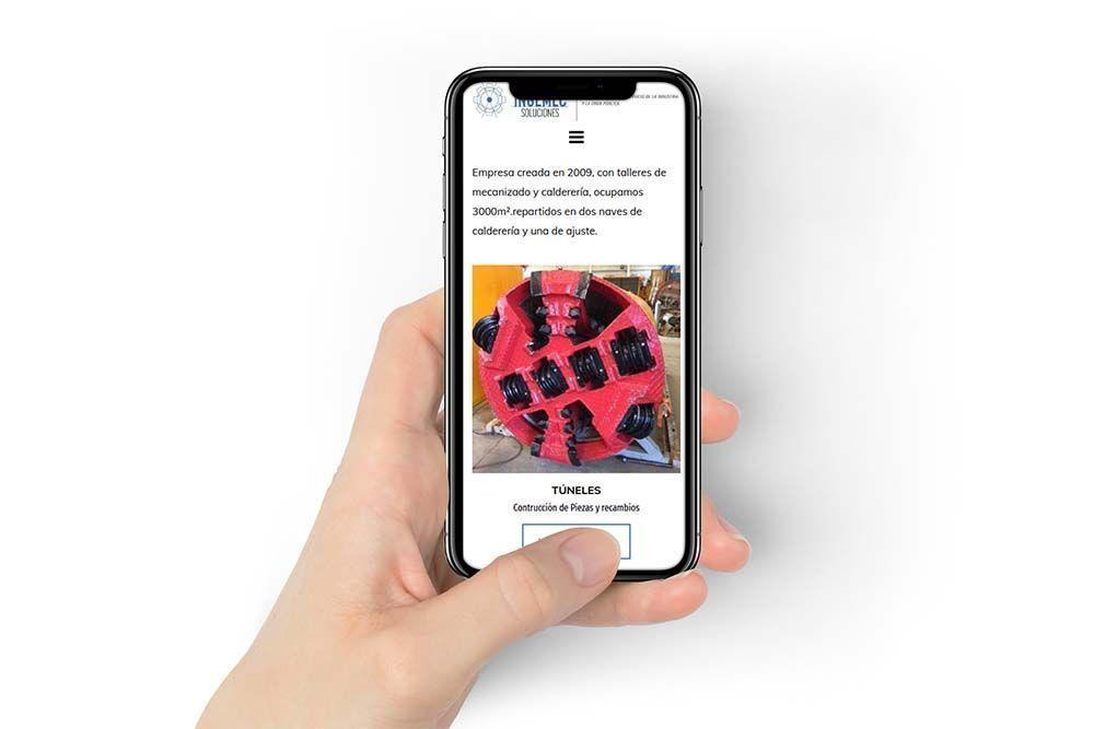 Diseño Web Ingemec Soluciones iPhone