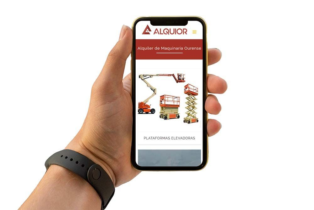 Diseño web iPhone Alquior