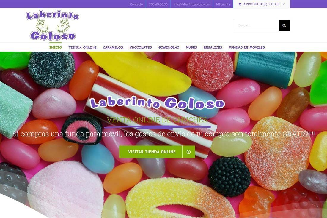 Diseño Tienda Online Laberinto Goloso