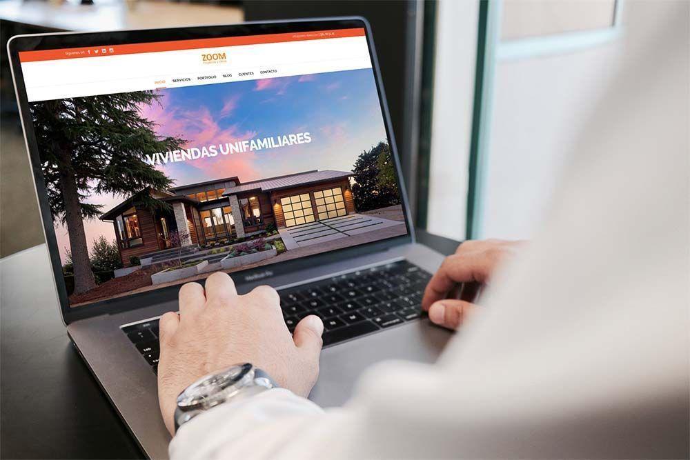 Diseño Web Zoom Proyectos y Obras MacBook