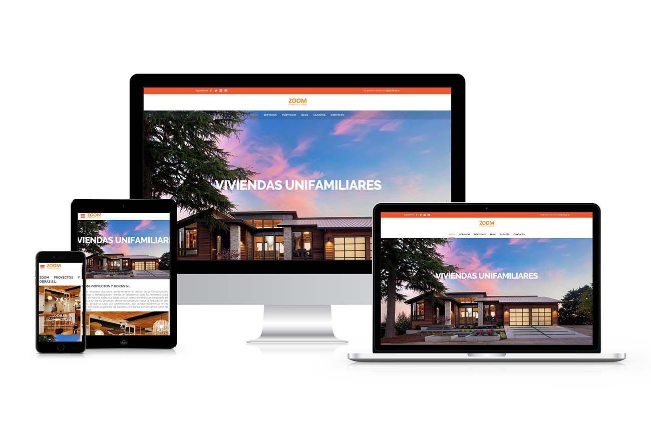 Diseño Web Zoom Proyectos y Obras