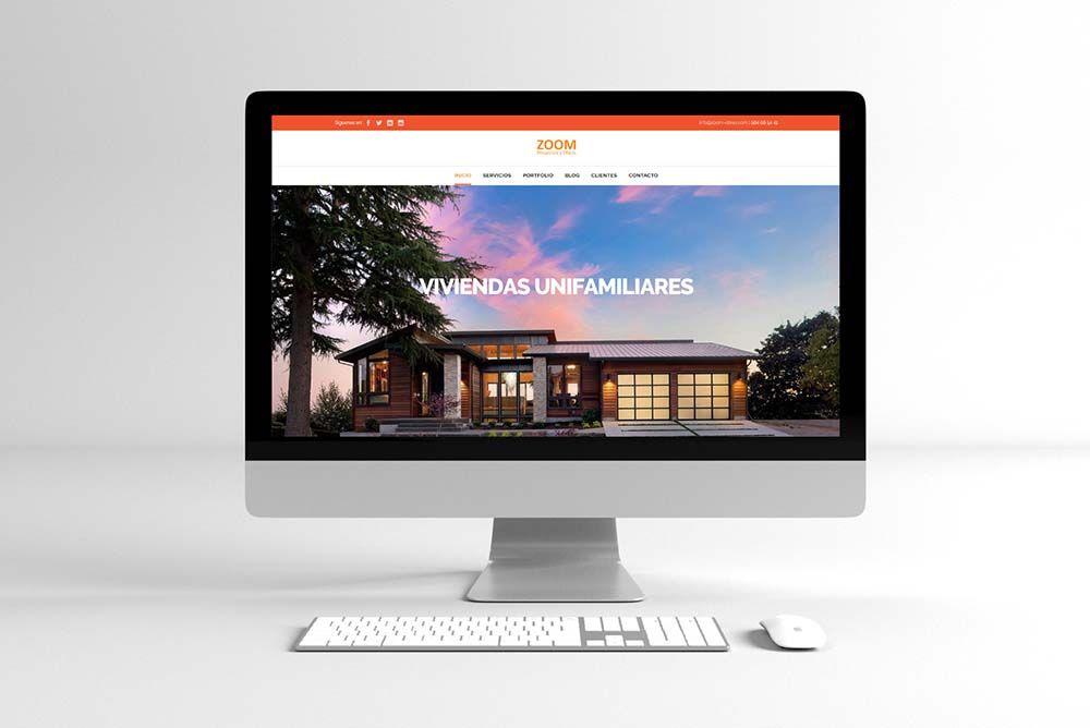 Diseño Web Zoom Proyectos y Obras iMac