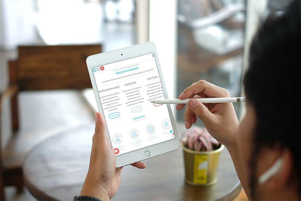Diseño web iPad PLM