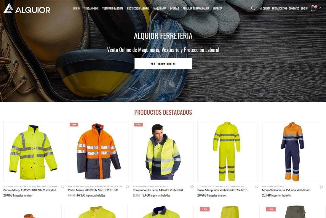 Diseño Tienda Online Alquior