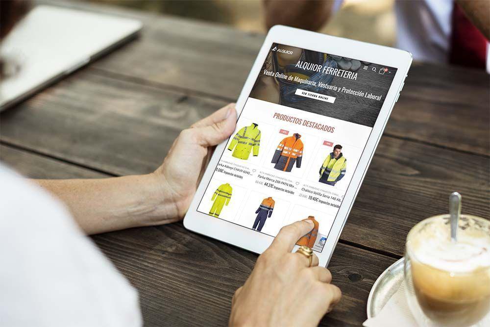 Diseño Tienda Online Ipad Alquior Ferretería