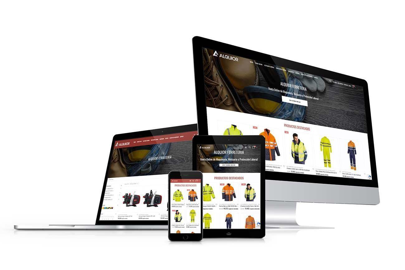 diseño Tienda Online Alquior Responsive