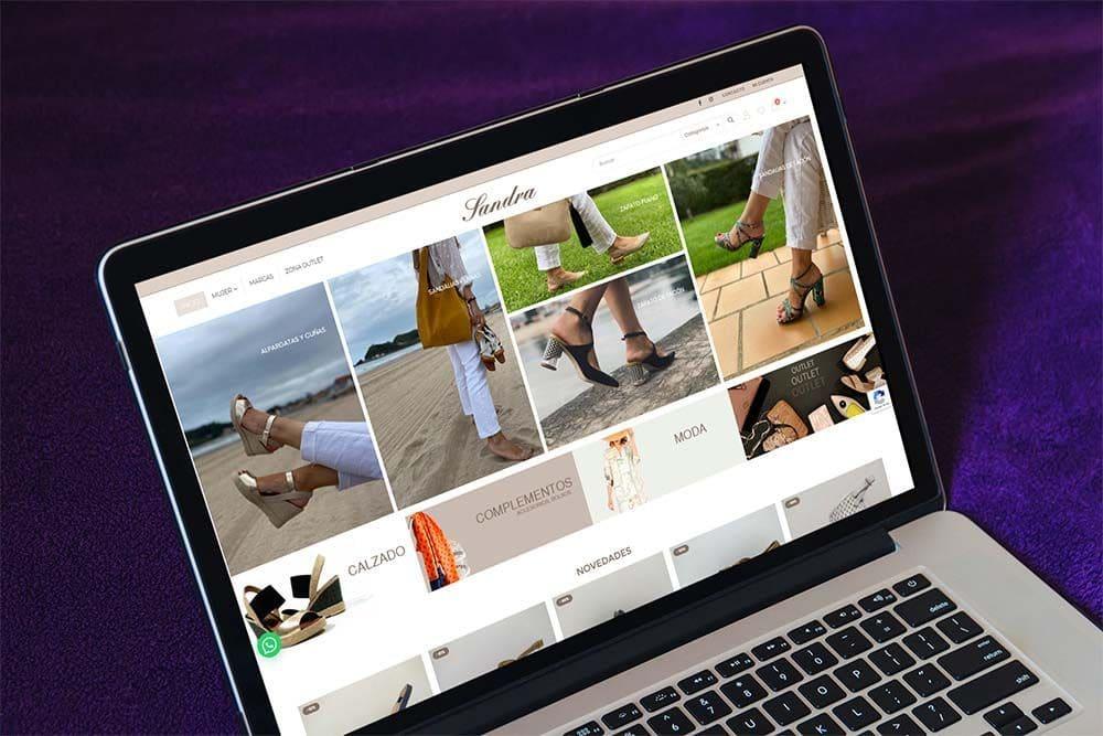Diseño Tienda Online Calzados Sandra MacBook