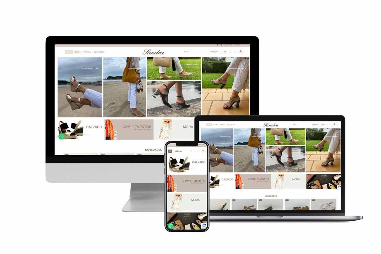 Diseño Tienda Online Calzados Sandra Responsive