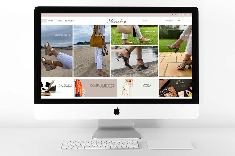 Diseño Tienda Online Calzados Sandra iMac