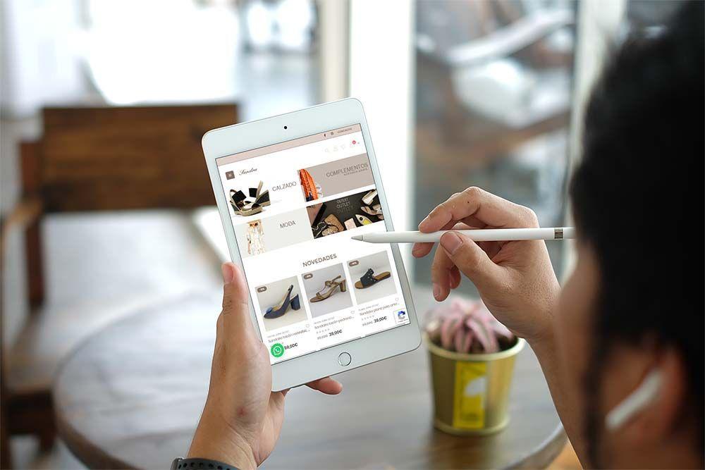 Diseño Tienda Online Calzados Sandra iPad