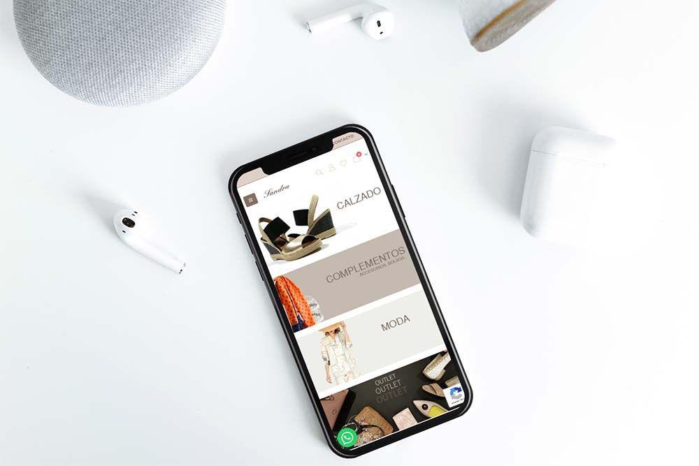 Diseño Tienda Online Calzados Sandra iPhone