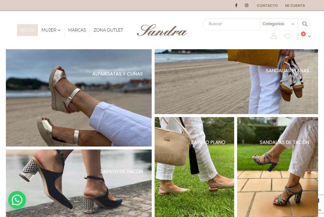 Diseño Tienda Online Calzados Sandra