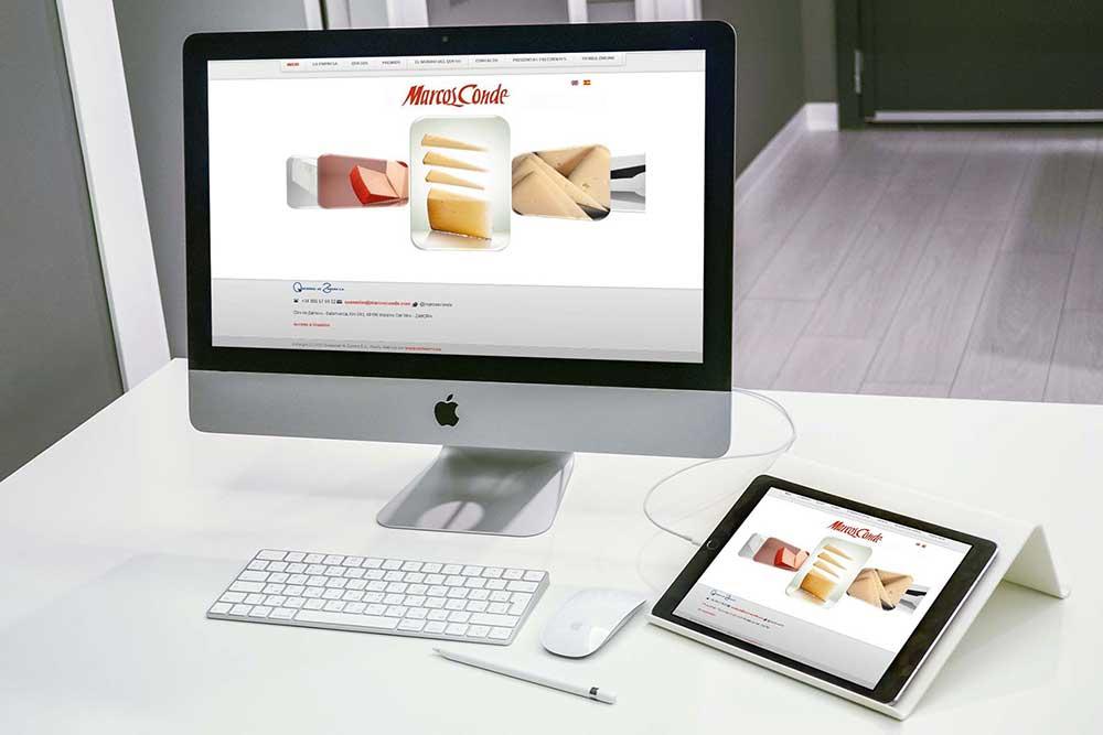 Diseño web Queserias de Zamora SA