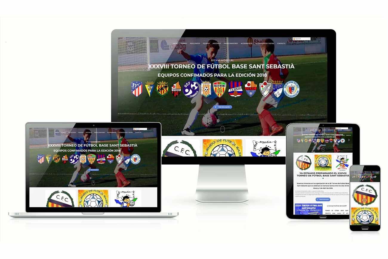 Diseño Web torneo futbol la canonja responsive