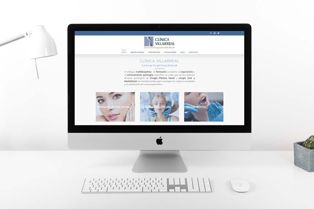 Diseño web Clínica Villarreal iMac