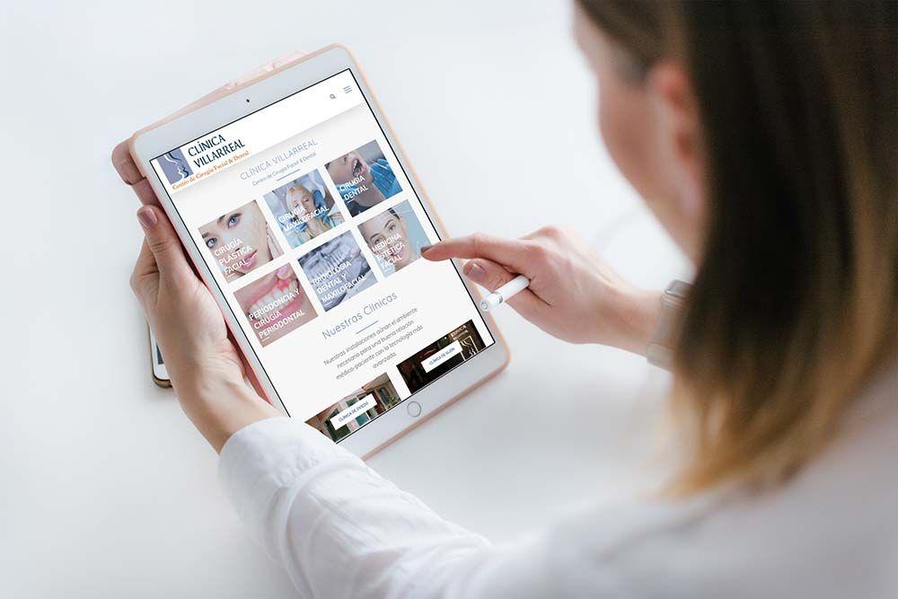 Diseño web Clínica Villarreal iPad